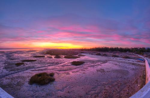 pink sunset seascape portugal algarve riaformosa 442 olhão 382 quintademarim tokina1224dxii nikond5100