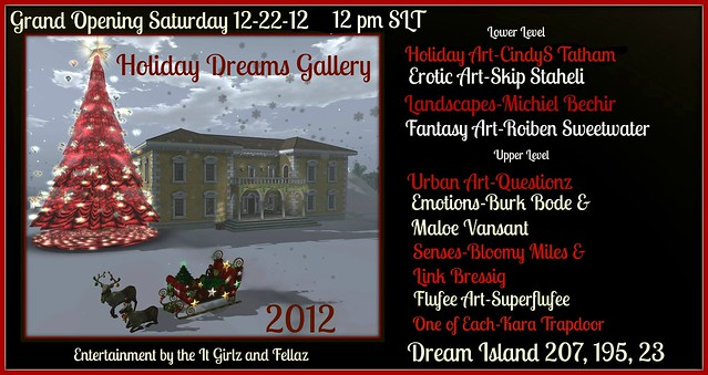 Opening Saturday Dec 22nd at 12pm SLT