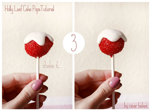 Holly Leaf Cake Pops TUTORIAL - step by step