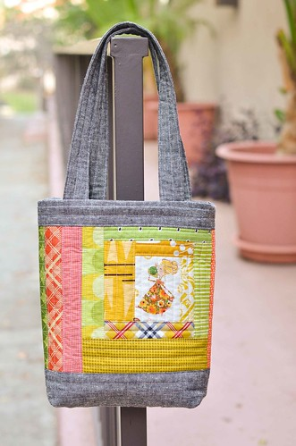 mini perfect quilted tote size a