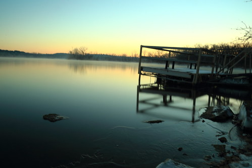 longexposure water sunrise kansas