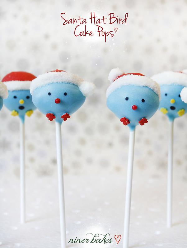 Schneemann Mützen Vogel Twitter Cake Pops: Anleitung von niner bakes bei Flickr