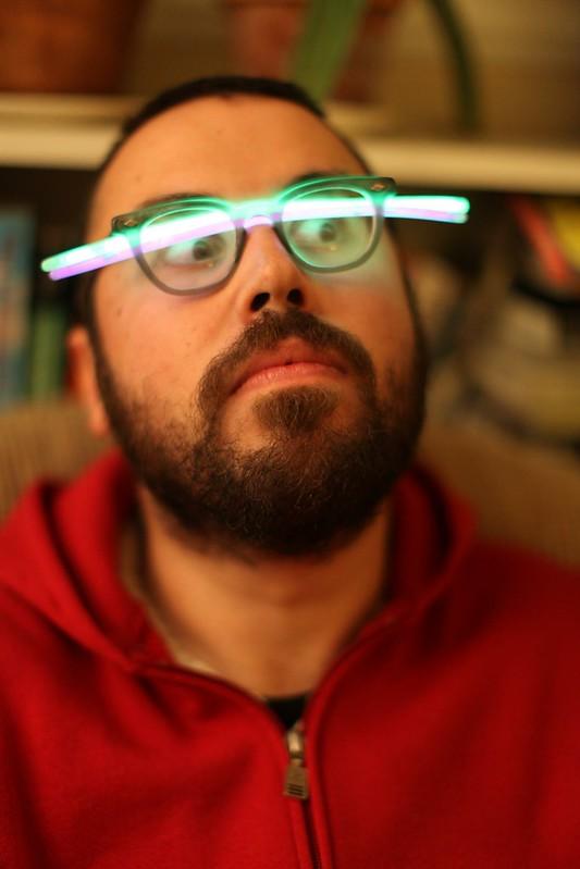 Rob with glow sticks