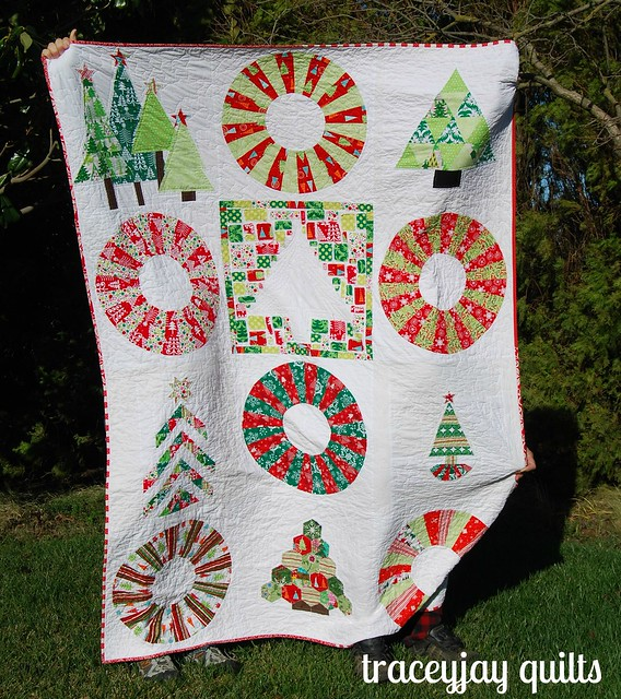 Christmas tree quilt finished!