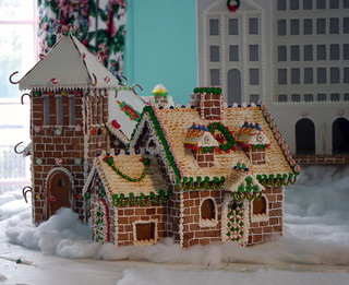 Greenbrier gingerbread house
