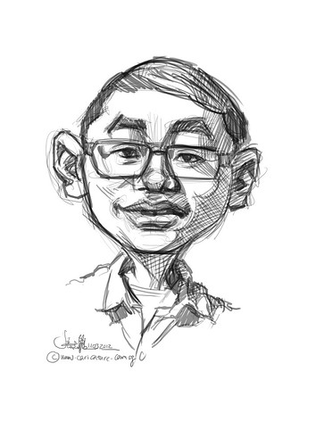 digital caricature of Goh Kok Leong for Hewlett Packard - 1