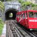 Výhybna dolního úseku lanovky se nachází částečně v tunelu , foto: Radim Polcer