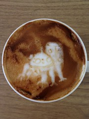 Today's latte, Tachikoma from Ghost in the Shell.