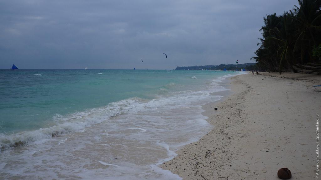 Южная часть Белого пляжа на острове Боракай