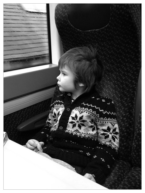 Max on the train