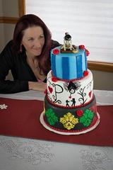 birthday(0.0), cake(1.0), red(1.0), fondant(1.0), party(1.0), food(1.0), cake decorating(1.0), birthday cake(1.0),