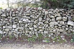 Un muret de pierres sèches au nord de Nîmes