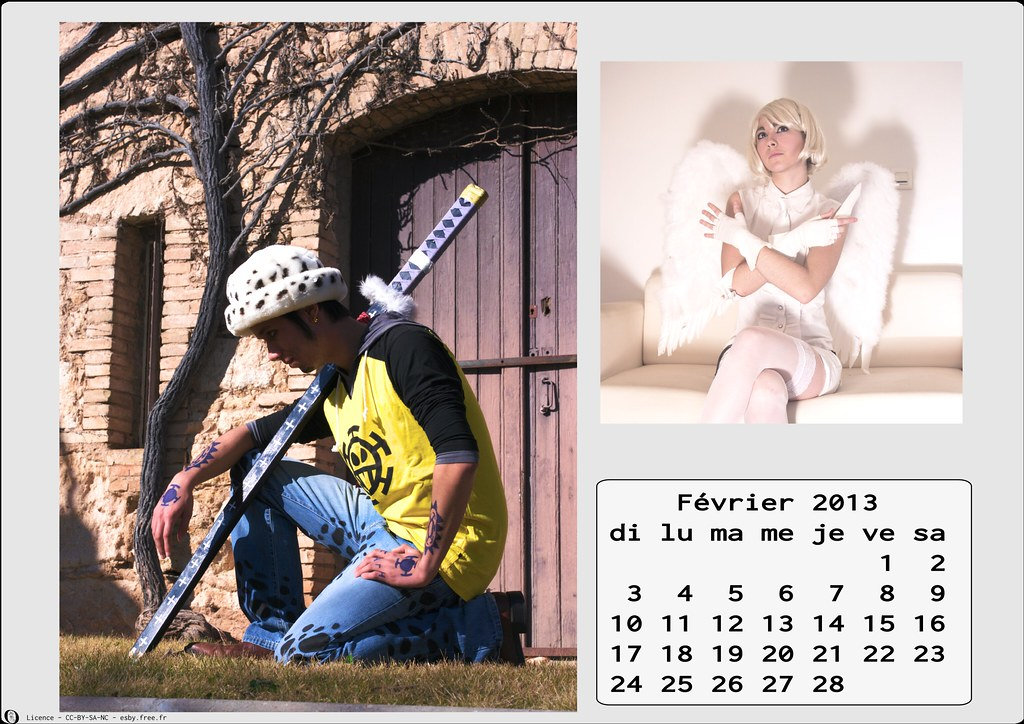related image - Calendrier Cosplay 2013 - 02 - Février