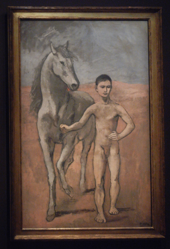 DSCN5676 _ Boy Leading a Horse, 1905-06, Pablo Picasso, NY MOMA at De Young - modified