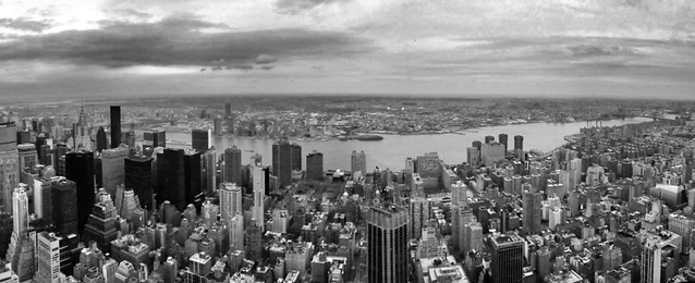 Looking east from the top of the Empire State Building