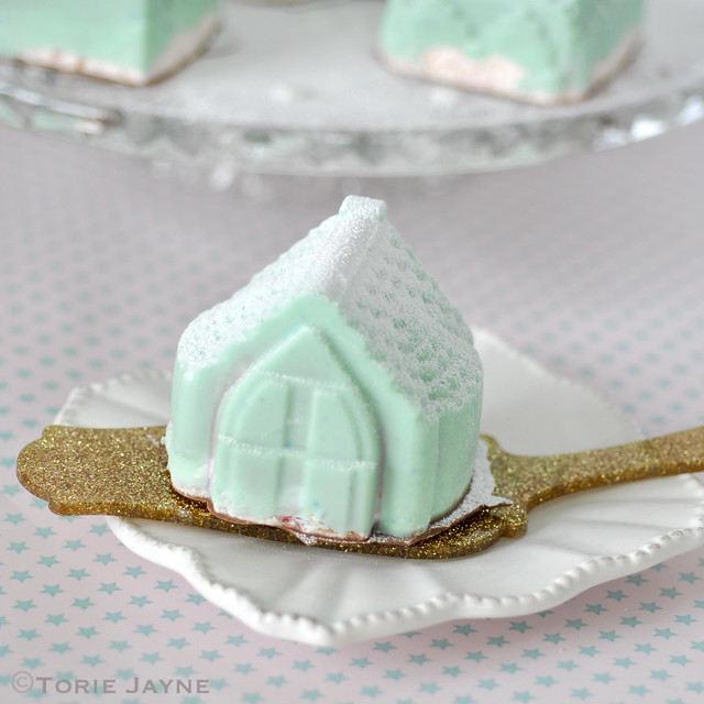 Mousse filled Chocolate house