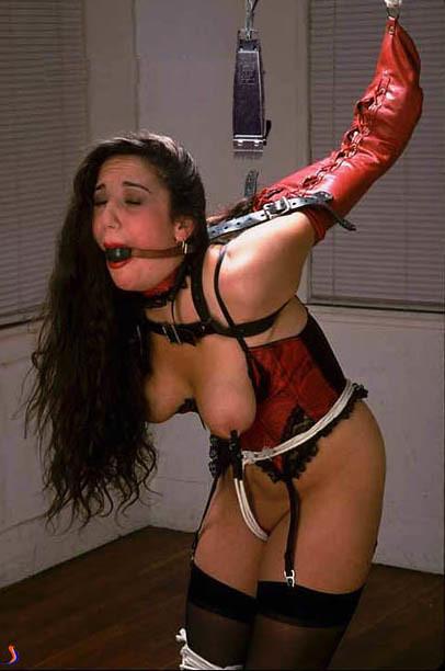 Rope bondage shave