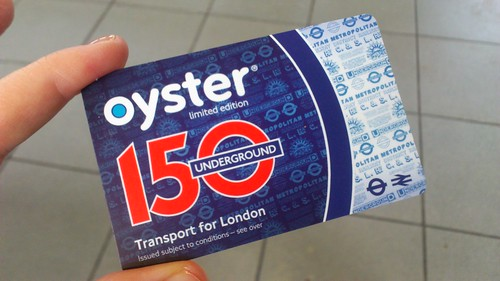 Limited Edition Oyster card for 150th London Underground Anniversary