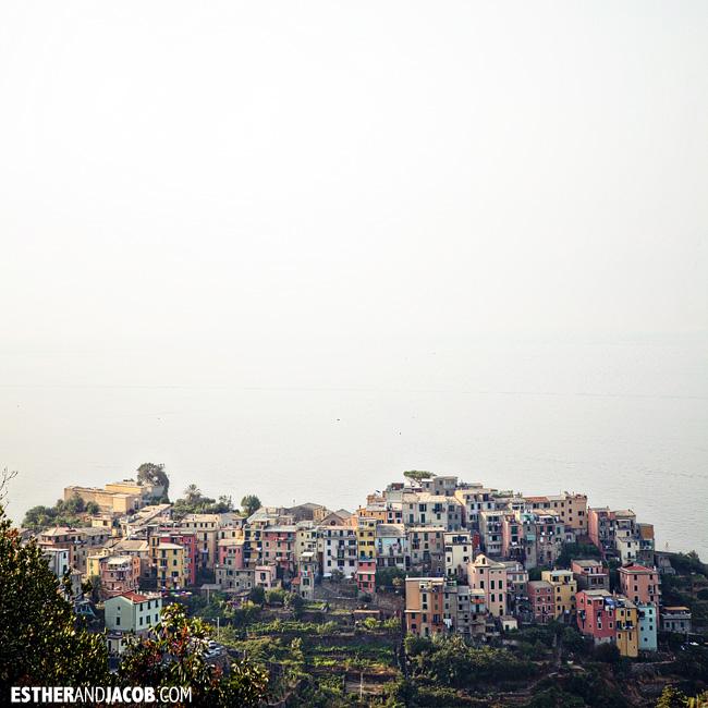 Colored buildings in Corniglia | Cinque Terre Italy | Travel Photography