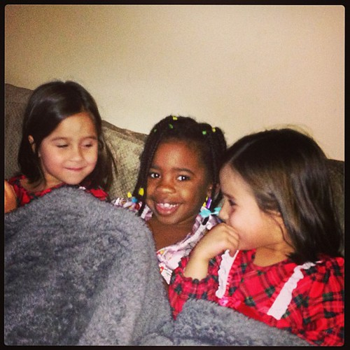 """A """"sleepover"""" with a friend minus the sleeping part. Dinner, play, jammies and a movie then home to sleep in your own bed:)"""
