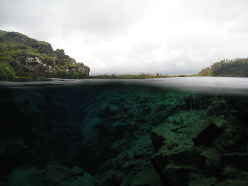 Wedged Between the Tectonic Plates: Snorkeling Under the Midnight Sun