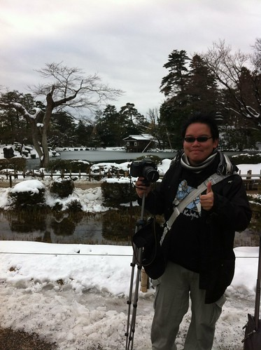 Photo of me at Kenroku-en