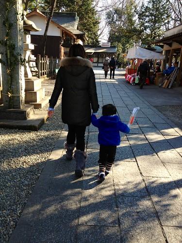 調神社に到着 2013/1/13