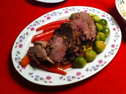 Sunday night dinner: veal roast