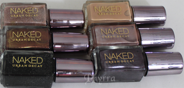 Urban Decay Naked Nail Polish set.