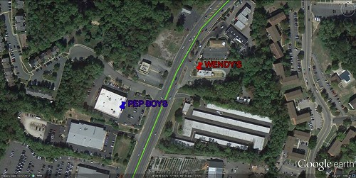 Pep Boys and Wendy's on Route 1 (via Google Earth)