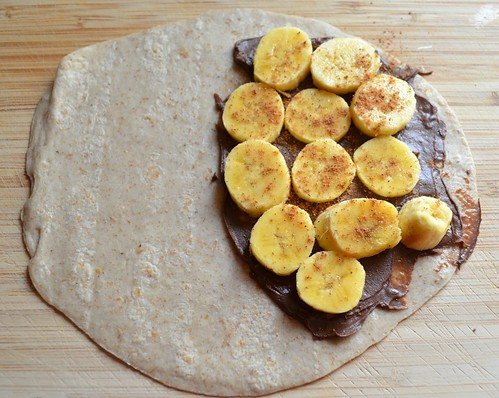 Assembling Banana-Chocolate Quesadillas 3