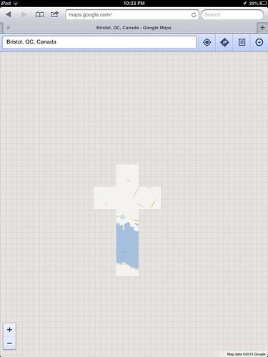 Google Map glitch.