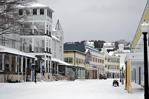 Mackinac Island in the winter