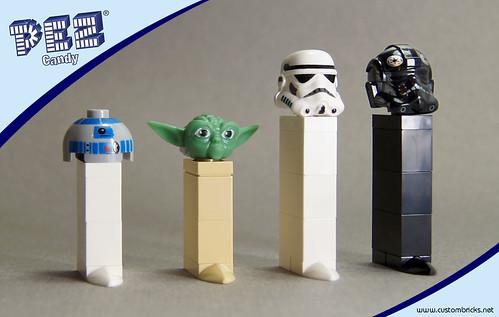 Lego Star Wars Pez Dispensers by customBRICKS