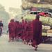 Typical Burmese Street Scene by 'Barnaby'