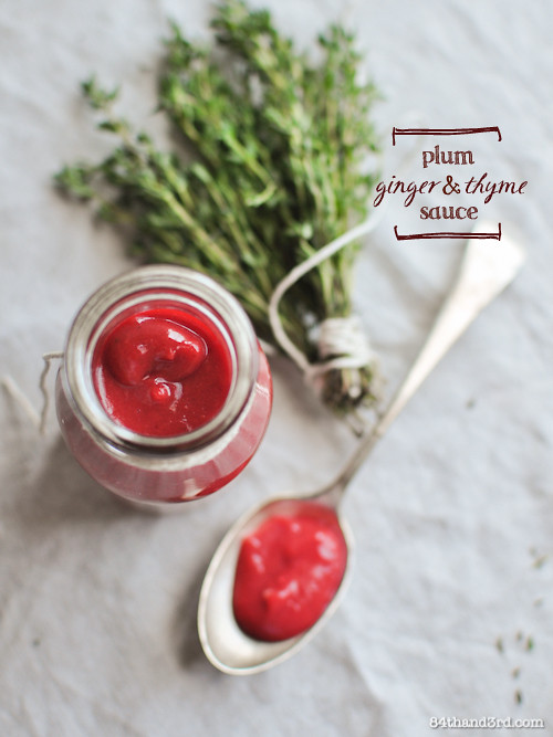 Plum & Ginger Sauce, How to Dry Thyme, and a bit about food waste...