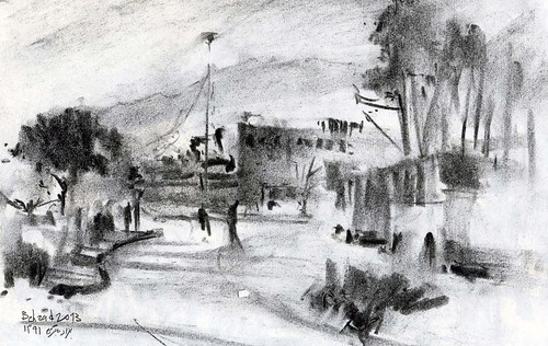 Chahar Bagh Boulevard  (7) by Behzad Bagheri Sketches