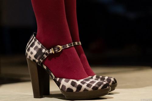 burgundy tights patterned heels