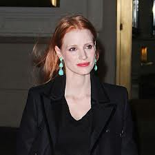 Jessica Chastain Statement Earrings Celebrity Style Women's Fashion