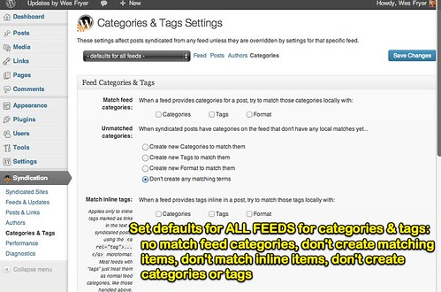 Categories & Tags Defaults