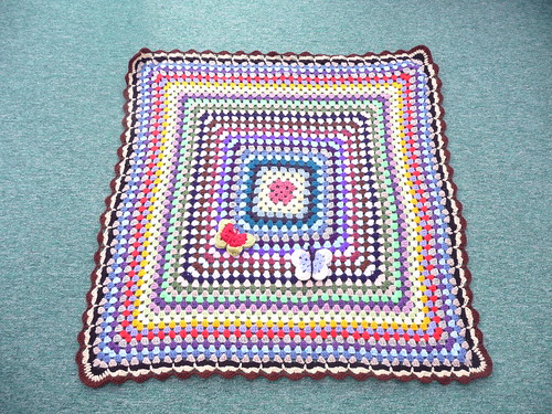 A beautiful Granny Square blanket