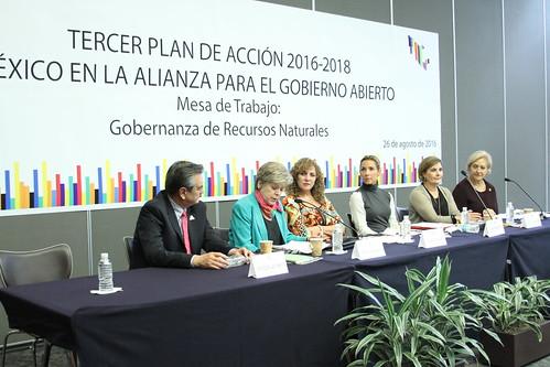 El día 26 de agosto se realizó en el Senado de la República la Mesa de trabajo para la construcción del Plan de Acción 2016-2018 de México en la Alianza para el Gobierno Abierto.