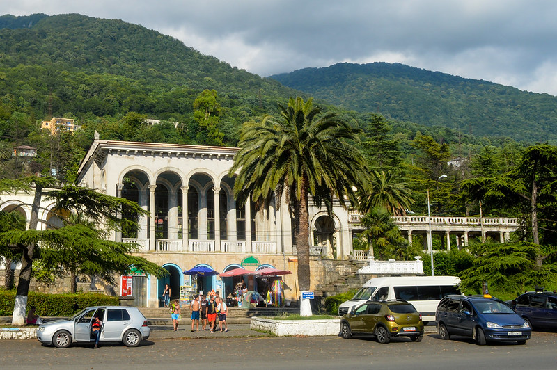 Gagra train station, Abkhazia