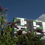 Modern university block in Preston