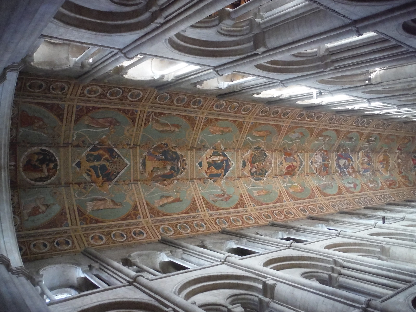 Ceiling, Ely Cathedral SWC Walk 118 Ely Circular
