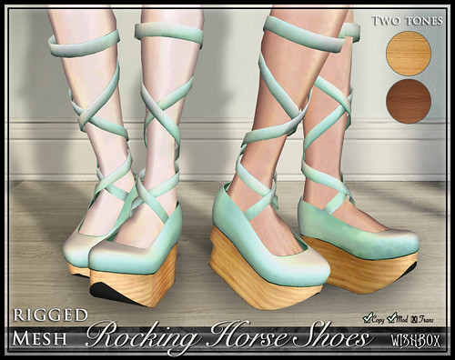 Rocking Horse Shoes from Wishbox in Second Life (Mint)