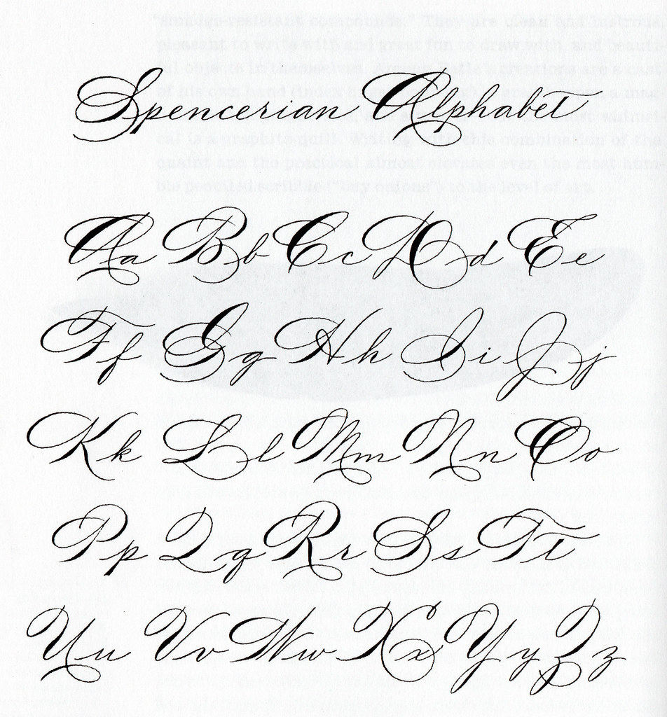 Looking For Certain Spencerian Exemplar Calligraphy