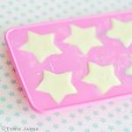 Making chocolate glitter stars