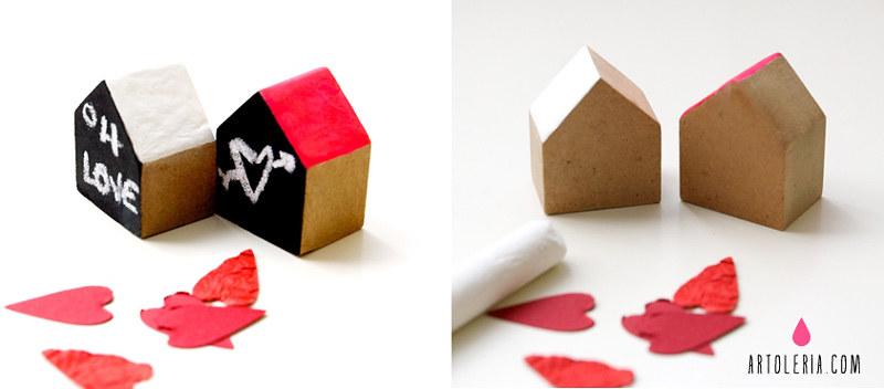 Casette di legno messaggeri di San Valentino