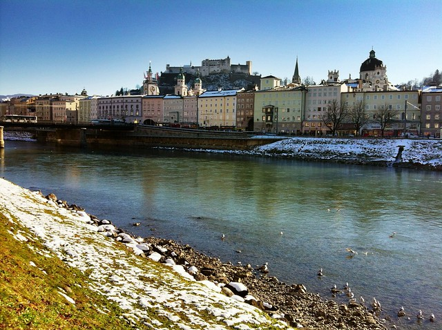 Finally, after three weeks, a day of really glorious sunshine in Salzburg!
